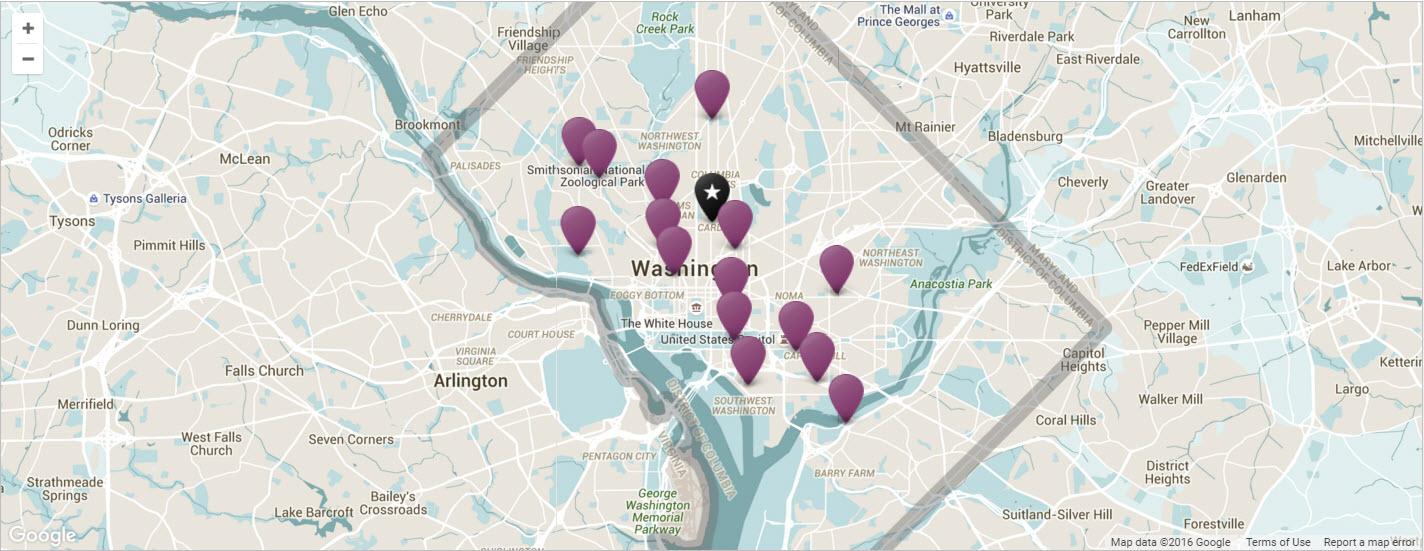 washington dc travel guide map