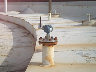 guided wave radar level transmitter installation