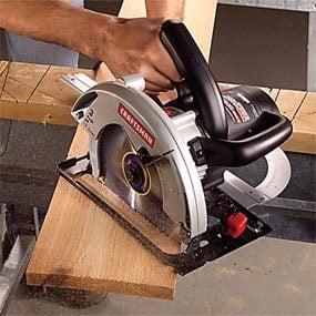 circular saw angle cutting guide