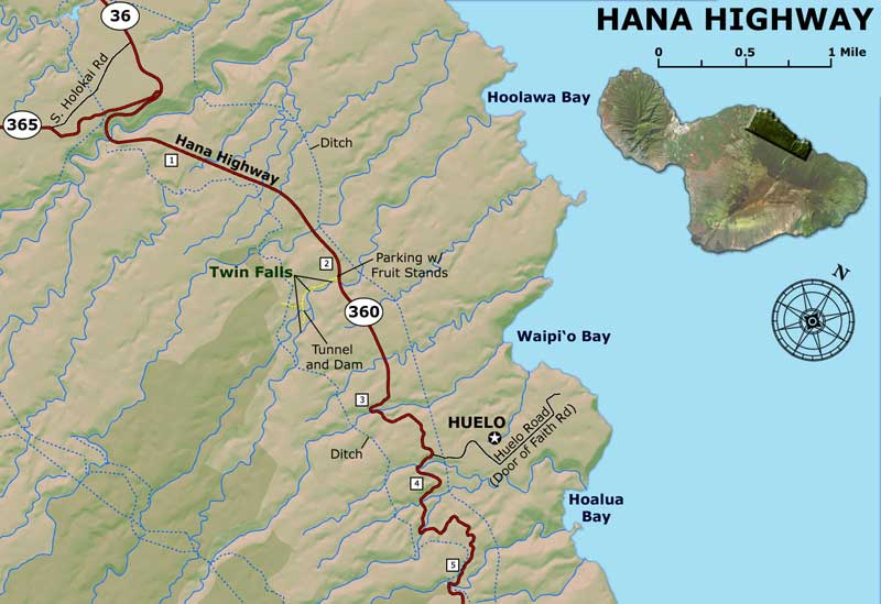 road to hana map guide