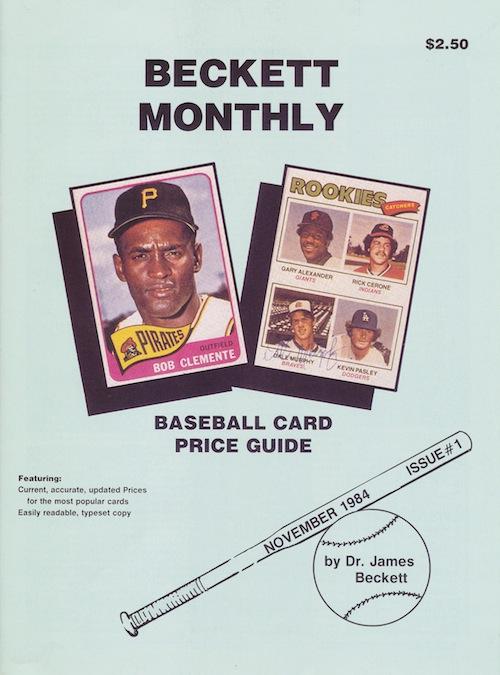 beckett baseball card price guide magazine