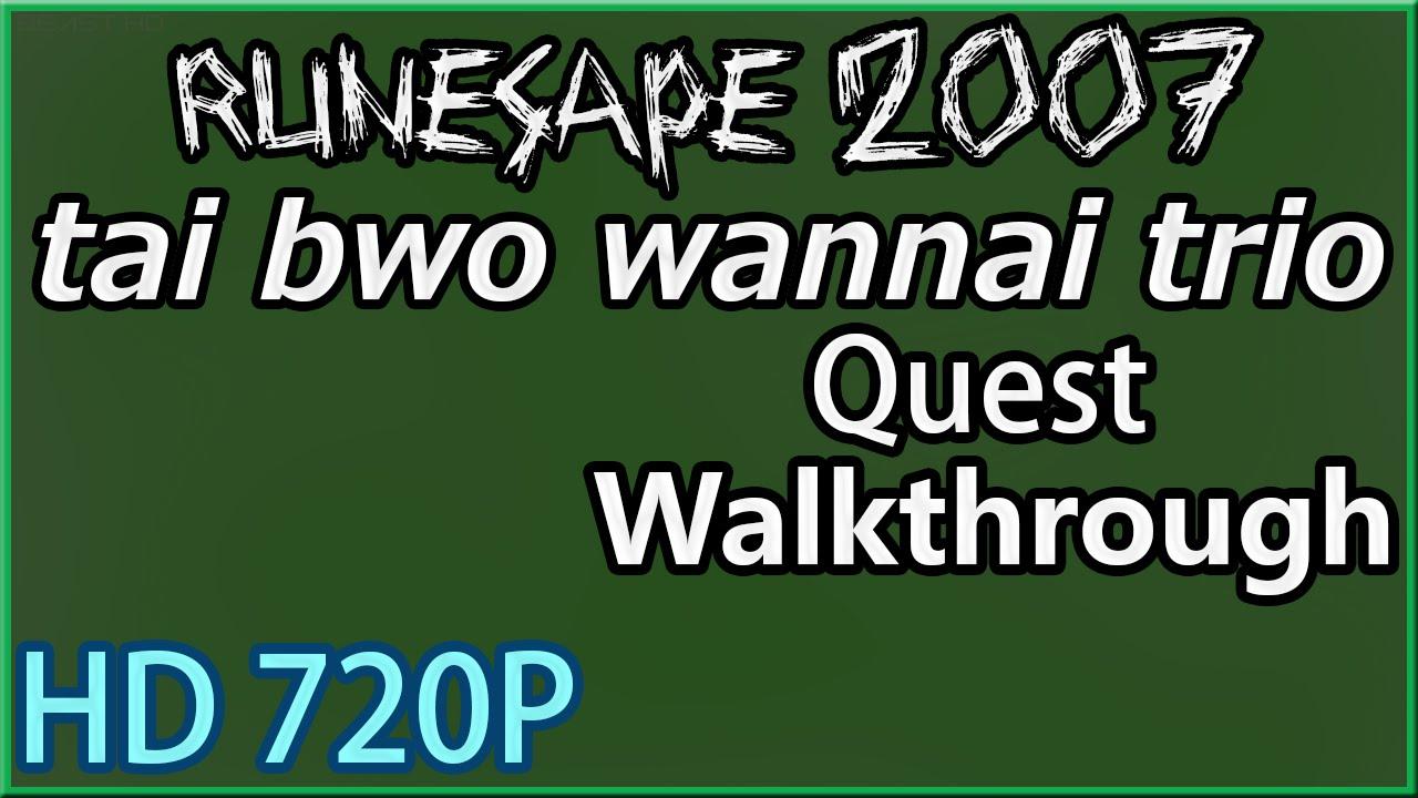 osrs tai bwo wannai trio quest guide