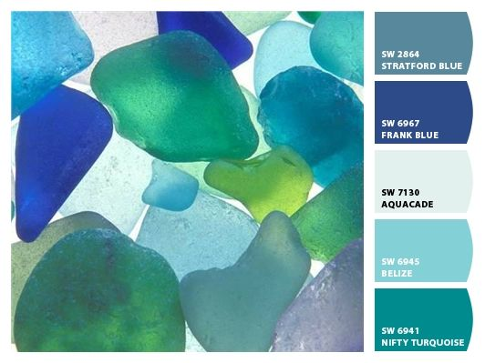 sea glass color swatch guide