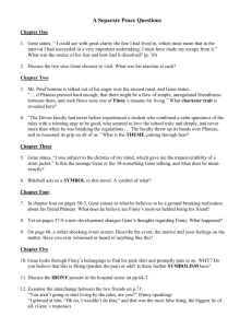 study guide questions for a separate peace